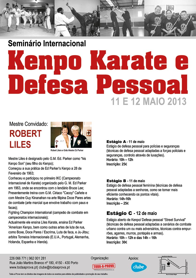Seminrio Internacional Kempo Karate e Defesa Pessoal em Portugal