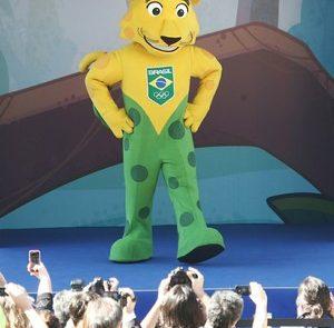 Ginga é a nova mascote do Time Brasil (Foto: Roberto Castro / ME)