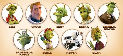 Personagens do Filme Planet 51