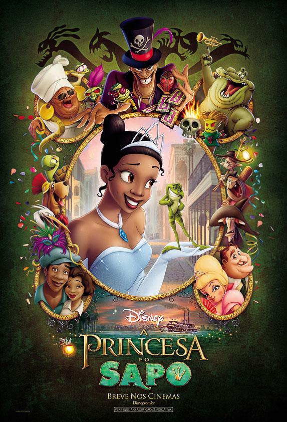 Cartaz Brasileiro do Filme 'A Princesa e o Sapo'