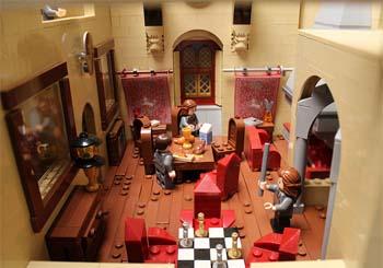 Escola de Magia e Bruxaria de Hogwarts criada pela artista Alice Finch - Foto Flickr ©
