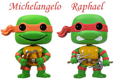 Bonecos das Tartarugas Ninjas