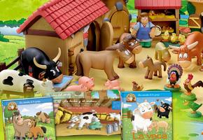 Os Animais da Fazenda - Coleção de Livros e Figuras