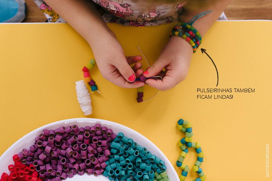 Colcar colorido para o carnaval