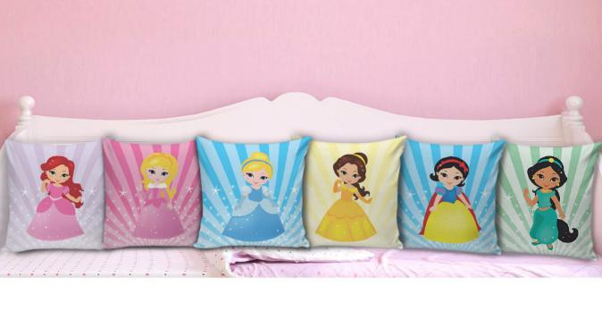 Almofadas decorativas para Quarto de Menina
